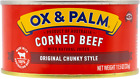 Ox & Palm Corned Beef Original Chunky Style 11.5oz (Pack of 6, 12 or 24)