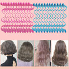 24Pcs 45cm Water Wave Magic Curler Formers Leverage Spiral Hairdressing Tool NEW