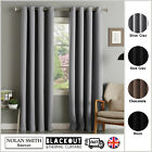 Thermal Blackout Curtains Ready Made Eyelet Ring Top With Free Tie Backs (pair)
