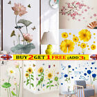 Self-adhesive Lotus Flower Wall Stickers Diy Art Decal Home Decor Removable Uk