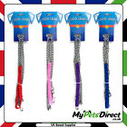 Dog Chain Lead | 1.2 Metres | Nylon Handle for Walking Small Dogs, Puppies, Cats