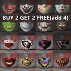3D Mouth Mask Printed Funny Face Mask Breathable Protection Washable US