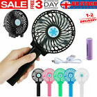 Rechargeable Fan Air Cooler Mini Operated Hand Held Fan USB W/ Battery Portable