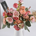 21heads Artificial Silk Small Flowers Rose Bunch Wedding Home Outdoor Decoration