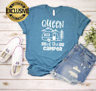 Queen Of The Camper T-Shirt, Camping Shirt, Camping Buddies, Hiking Gift Shirt