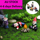 Naughty Garden Gnome Statue Resin For Home Lawn Ornaments Statue Drunken Dwarf
