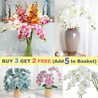 Fake Phalaenopsis Silk Flower Artificial Butterfly Orchid Home Garden For Decor