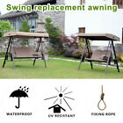 Swing Canopy Cover Waterproof Replacement Parts Outdoor Garden Sun Shade Roof US