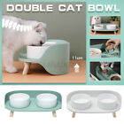Cat Dog Double Bowl Feeding Evelated Pet Feeder Drinking Water Food Dispenser