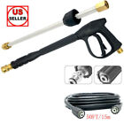 3000 PSI High Pressure Car Power Washer Spray Gun Wand Lance Nozzle Hose Kit M22 photo
