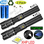 900000LM LED Flashlight Super Bright Torch Lamp USB Rechargeable Tactical XHP90