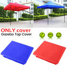 2x2m 3x3m Garden Fold BBQ Gazebo Top Cover Roof Replacement Fabric Tent Canopy
