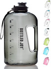 Bottled Joy 1 Gallon Water Bottle, Bpa Free Large Water Bottle Hydration With Mo