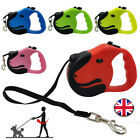 New Retractable Dog Leads Nylon Lead Extending Puppy Walking Running Leash