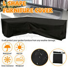 Outdoor L Shape Furniture Cover Waterproof Sofa Lounge Seat Couch Cover Garden