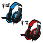 Over Ear Gaming Headset w/ Microphone Earpiece Surround Sound Soft Earmuffs