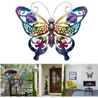 3d Metal Butterfly Wall Art Hanging Accent Removable Ornament Garden Fence Decor