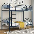 Twin Over Twin Bunk Bed Convertible Into 2 Individual Metal Twin Bed Frame Home
