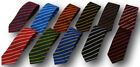 School Uniform Ties - Narrow Stripes - Adult Sizes - Many Colour Combinations