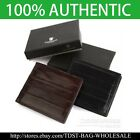 [OMNIA] Crystal MEN'S GENUINE LEATHER WALLET/ID Card Purse MW623S Bifold Wallet