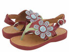 """NIB Girls UMI """"Lucy"""" RED Leather Sandals 23, 24, 25 NEW"""