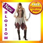 C165 South Seas Siren Pirate Ladies Fancy Dress Costume S M L XL Plus