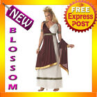 C168 Roman Empress Greek Goddess Fancy Dress Adult Costume S M L XL Plus