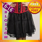 BAS1 Burlesque Moulin Rouge Black Layered Skirt S-XXL