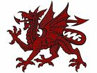 Red Welsh Dragon Select Size Waterslide Ceramic Decals Bx image