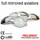 Metal Mirror Mirrored Aviator Sunglasses 1375 3 Pack