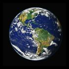 "EARTH PHOTO FROM SPACE 22x22"" Canvas QUALITY Art Print"