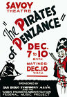 TH2 Pirates of Penzance Vintage Theatre Poster A1 A2 A3