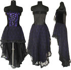 Gothic Corset Wedding Dress Prom Purple Halloween Custom Made US Size 20-26 1480