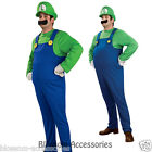 C282 Deluxe Super Mario Luigi Adult Fancy Costume S M L