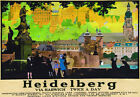 TT81 Vintage Heidelberg Via Harwich Railway Travel Poster A3 A2 Re-print