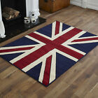 LARGE - XL  LARGE TRADITIONAL UNION JACK FLAG RED IVORY WHITE BLUE DESIGNS RUGS
