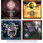 ELECTRIC GUITAR STRINGS & BASS & ACOUSTIC  KERLY KUES EARTHTONES SINISTER STRING