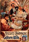 "AV19 Art Deco Alphonse Mucha Biscuits Champagne Advertisment Poster A3 17""x12"""
