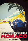 "AV21 Vintage 1933 Monaco Grand Prix Motor Racing Advertisment Poster A3 17""x12"""