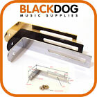 Guitar scratch plate pickguard bracket in chrome black or gold  including screw