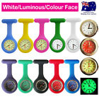 Nurse Watch FOB Silicone Watch Pocket Watch for Pouch+Brooch Pin+2x Free Battery