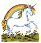 Unicorn Mystical Creature Rainbow Select-A-Size Ceramic Waterslide Decals Tx image