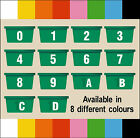 Self Adhesive Wheelie Bin / Recycling Box Numbers & Letters - FREE POSTAGE
