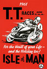 "AD71 Vintage 1960's Isle Of Man TT Motorbike Racing Poster Print A2+ 24""x17"""