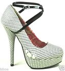 IRON FIST IN MY NET PLATFORM STRAP NUDE STILETTO HEELS COURT SHOES SIZE 3-9 NEW