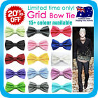 Bow Tie Korean Silk Polyester Wedding Tuxedo Bowtie Groom Party Double Bows Grid