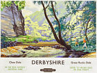 TU86 Vintage Derbyshire Chee Dale British Railway Travel Poster Re-Print A2 A3