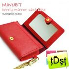 [JETOY]Korea Choo Choo Cat Lovely Mirror Leather Name Card Holder J6034 Red