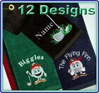 Personalised Velour Golf Towel 12 Designs Your Choice