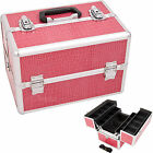 Makeup Tool Box Easy Clean M4001 All Black Pink Zebra Silver Cosmetic Organizer